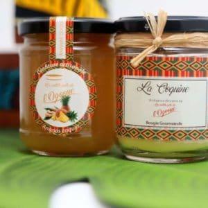 PEPO BOX duo de bougie et de confiture-Les petits pot de l'Ogooué
